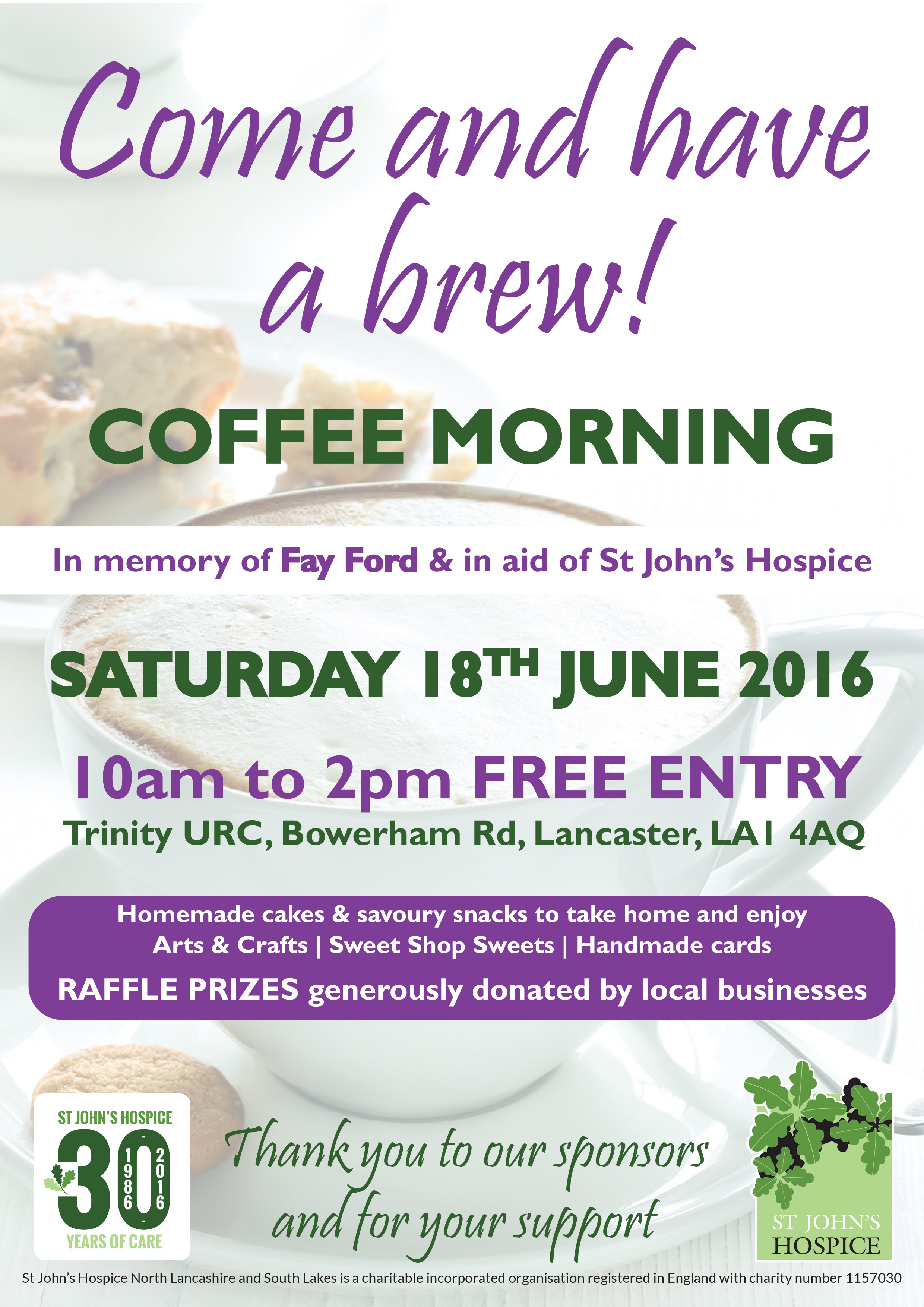 Coffee Morning Poster St Johns