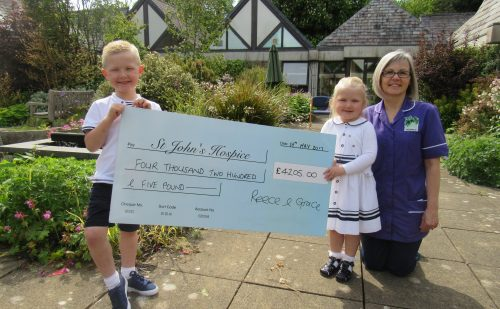 Reece and grace cheque presentation