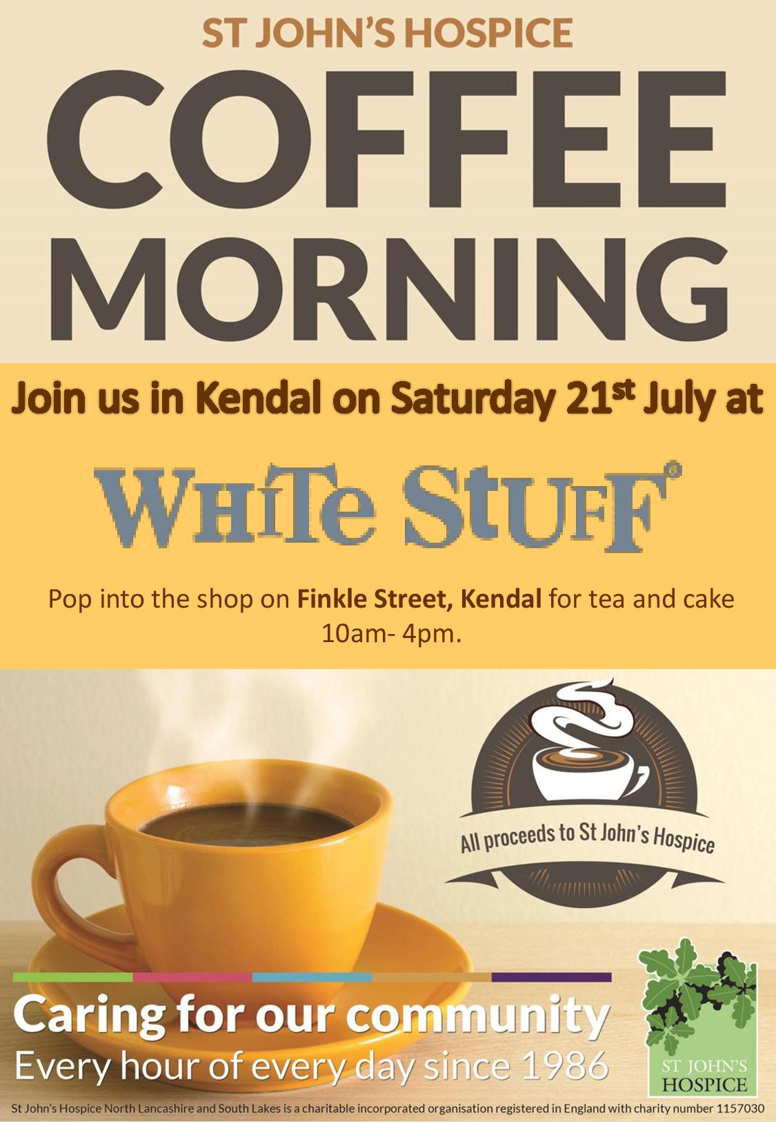 White Stuff Coffee Morning Poster Page 001 St Johns