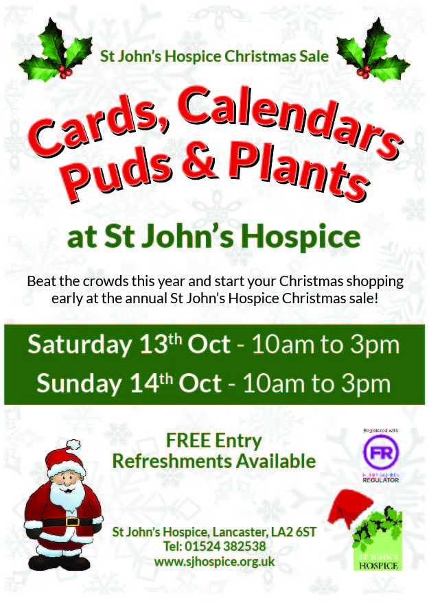St John\'s Hospice Cards, Calendars, Puds & Plants Christmas Sale ...