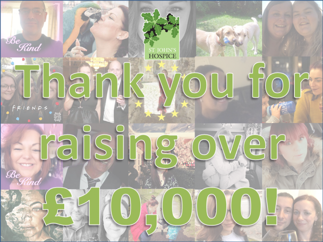 Facebook donations reach £10000 for St John's Hospice